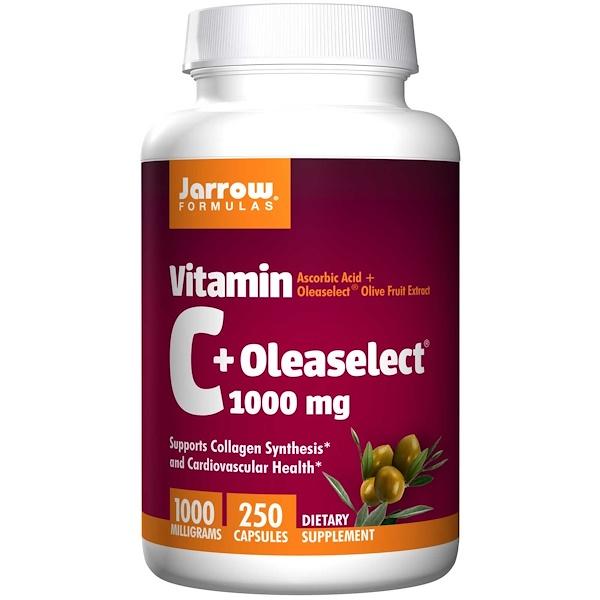 Jarrow Formulas, Vitamin C + Oleaselect, 1000 mg, 250 Capsules (Discontinued Item)