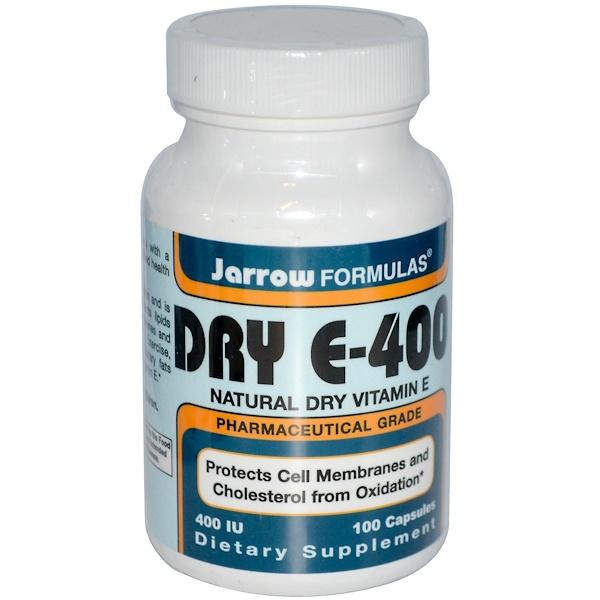 Jarrow Formulas, Dry E-400, 400 IU, 100 Capsules (Discontinued Item)