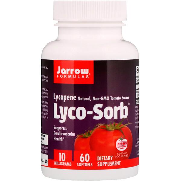 Jarrow Formulas, Lyco-Sorb Lycopene, 10 mg, 60 Cápsulas Blandas