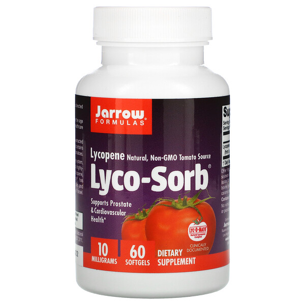 Jarrow Formulas, Lyco-Sorb, ликопин, 10мг, 60капсул