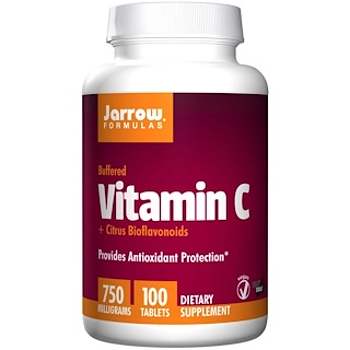 Jarrow Formulas, Vitamin C, 750 mg, 100  Tablets