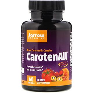 Jarrow Formulas, CarotenALL, комплекс из смеси каротиноидов, 60мягких таблеток