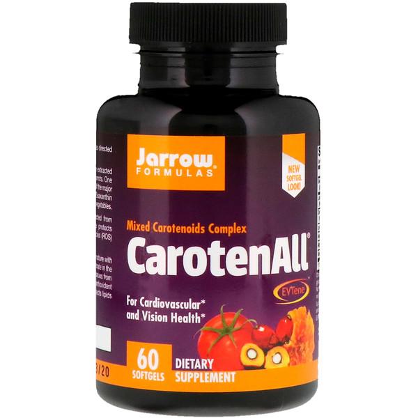 Jarrow Formulas, CarotenALL, Mixed Carotenoids Complex, 60 Softgels