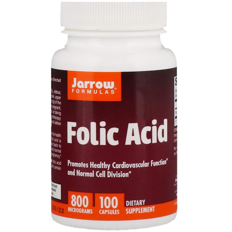 Folic Acid, 800 mcg, 100 Capsules