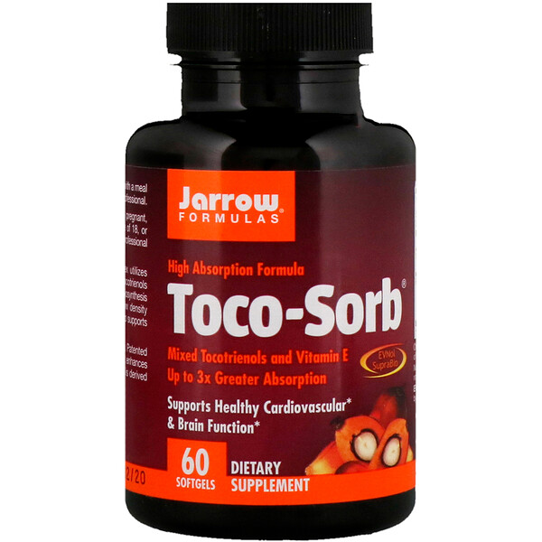 Toco-Sorb, Mixed Tocotrienols and Vitamin E, 60 Softgels