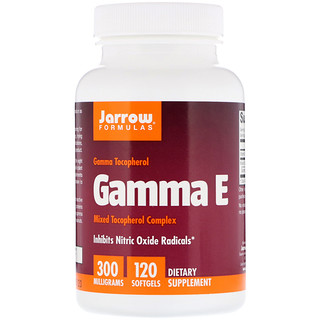 Jarrow Formulas, Gamma E, 300 mg, 120 Softgels