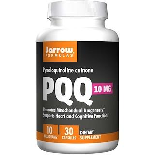 Jarrow Formulas, PQQ, пирролохинолинхинон, метоксантин, 10 мг, 30 капсул