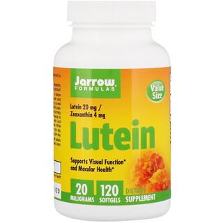Jarrow Formulas, ルテイン, 20 mg, 120錠 (ソフトジェル)