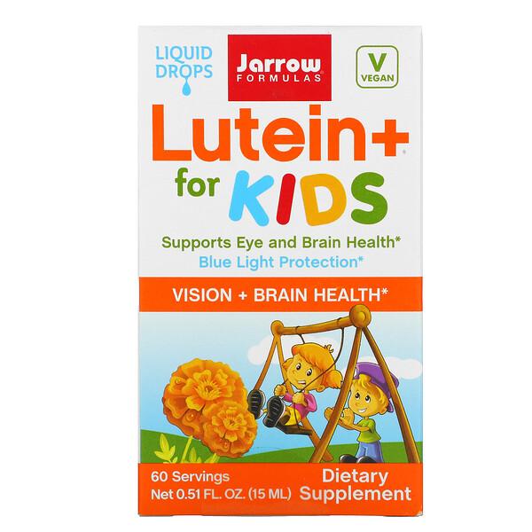 Jarrow Formulas, Luteína+ para niños, 0.51fl oz (15ml)