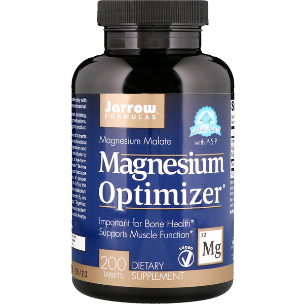 Jarrow Formulas, Magnesium Optimizer, 200 tabletas
