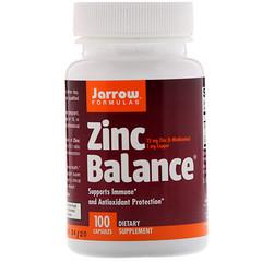Jarrow Formulas, Zinc Balance, 100 Capsules