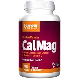 Jarrow Formulas, 칼슘마그네슘, 구연산염/말산염, 쉽게 녹는 알약 90정