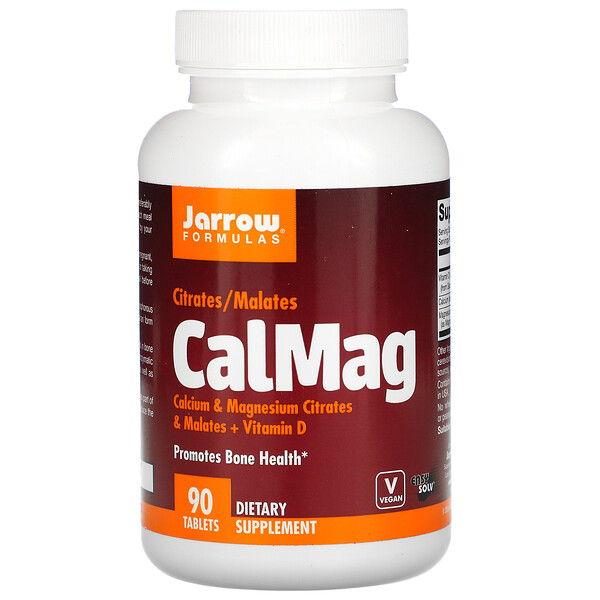 Jarrow Formulas, CalMag, Citrates/Malates, 90 Tablets