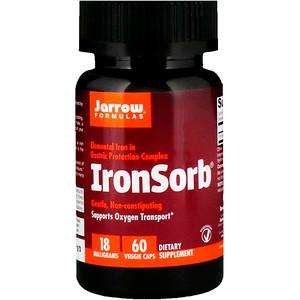 джэрроу формулас, IronSorb, 18 mg, 60 Veggie Caps отзывы
