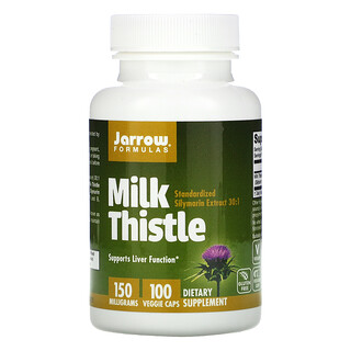 Jarrow Formulas, Milk Thistle, 150 mg, 100 Veggie Caps