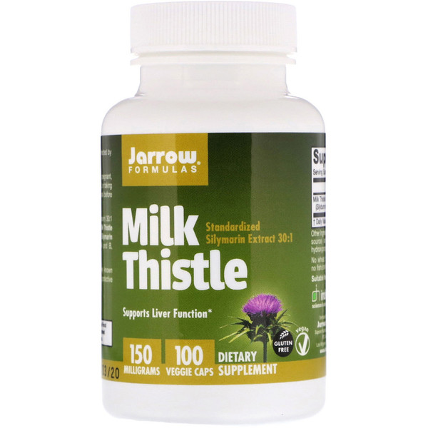 Jarrow Formulas, Milk Thistle, 150 mg, 100 Veggie Caps