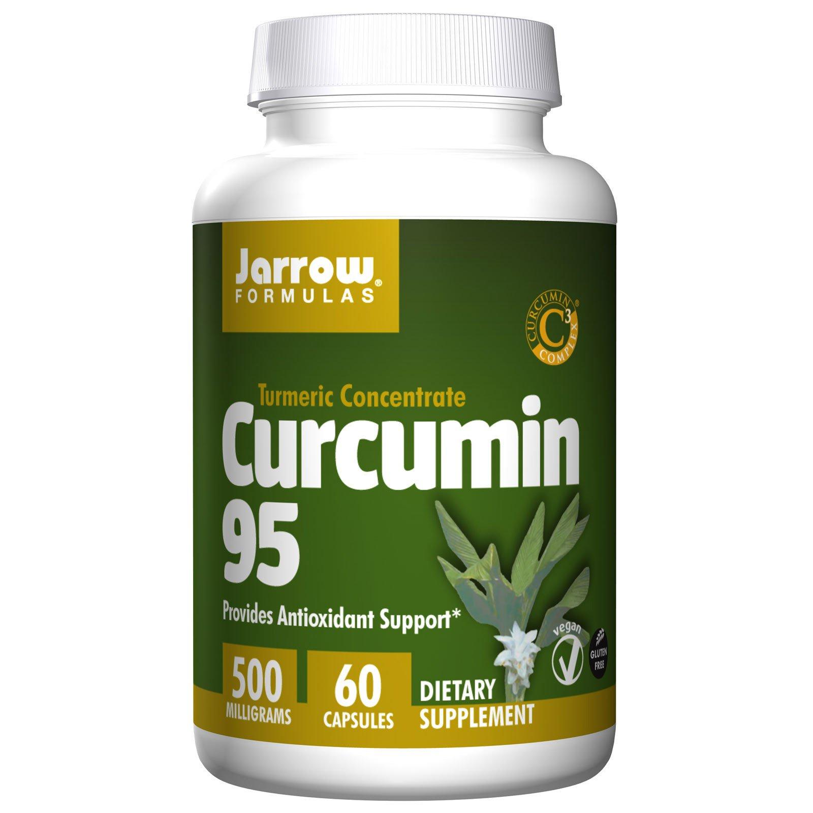 Jarrow Formulas, Куркумин 95, 500 мг, 60 вегетарианских капсул