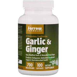 Jarrow Formulas, Garlic & Ginger, 700 mg, 100 Capsules