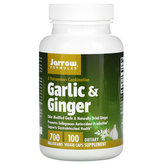 Jarrow Formulas, Garlic & Ginger, 700 mg, 100 Veggie Caps