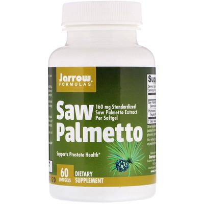 Купить Jarrow Formulas Со пальметто, 160 мг, 60 мягких капсул