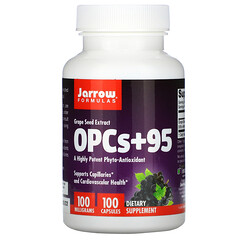 Jarrow Formulas, OPCs + 95,葡萄籽提取物,100 毫克,100 粒膠囊