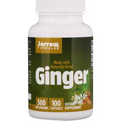 Jarrow Formulas, ジンジャー、500 mg、100カプセル
