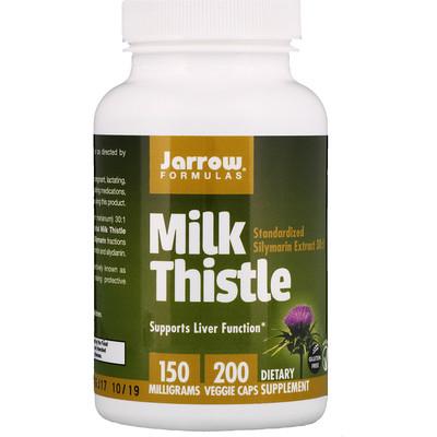 Jarrow Formulas Молочный чертополох, 150мг, 200растительных капсул