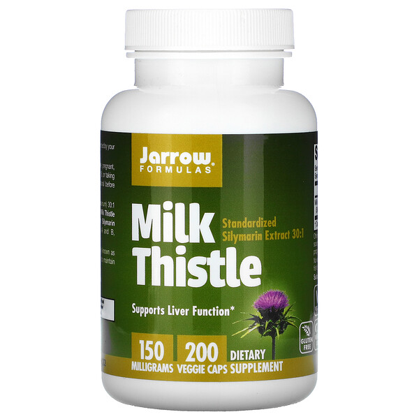 Jarrow Formulas, Milk Thistle, 150 mg, 200 Veggie Caps