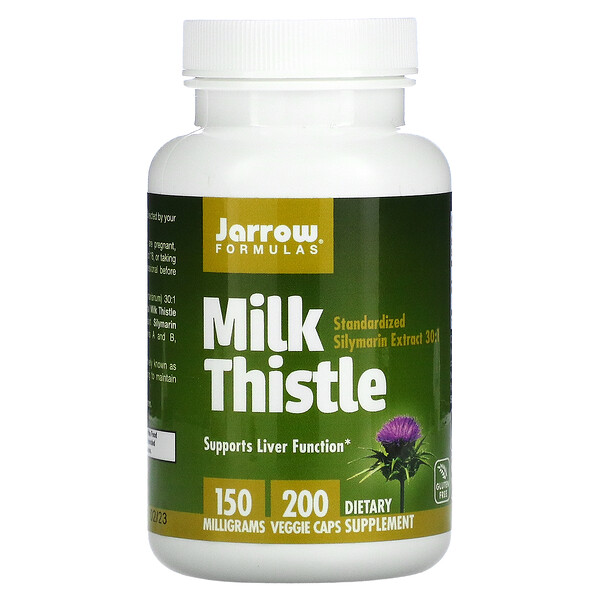 Standardized Milk Thistle, 150 mg, 200 Veggie Caps