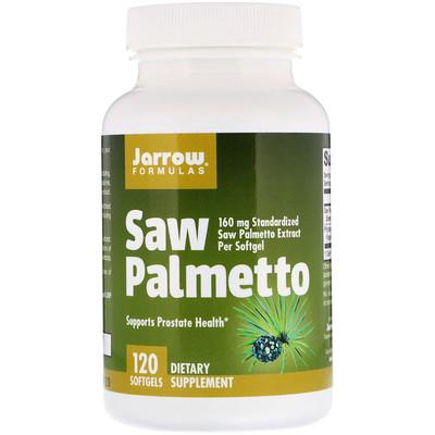 Купить Jarrow Formulas Saw Palmetto, 160 мг, 120 мягких желатиновых капсул