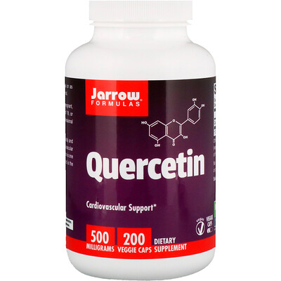 Jarrow Formulas Кверцитин, 500 мг, 200 овощных капсул