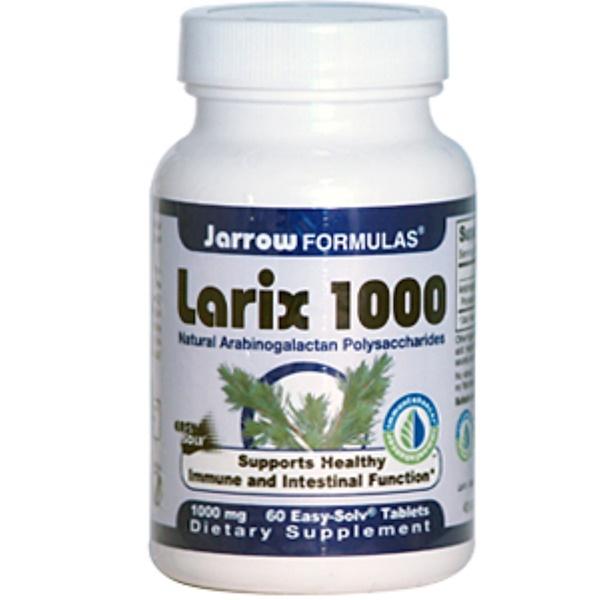 Jarrow Formulas, Larix 1000, Natural Arabinogalactan Polysaccharides, 1000 mg, 60 Easy Solv Tablets (Discontinued Item)