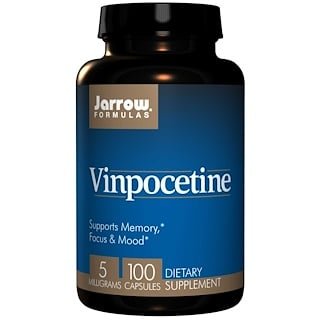Jarrow Formulas, Vinpocetine, 5 mg, 100 Veggie Caps