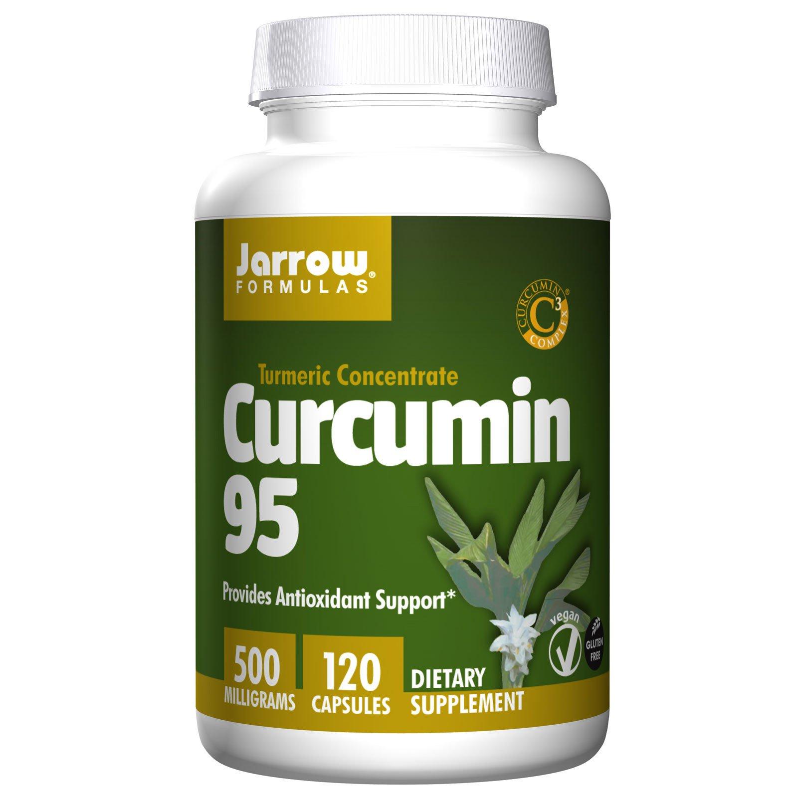 Jarrow Formulas, Куркумин 95, 500 мг, 120 вегетарианских капсул