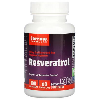 Jarrow Formulas Ресвератрол 100, 60 овощных капсул