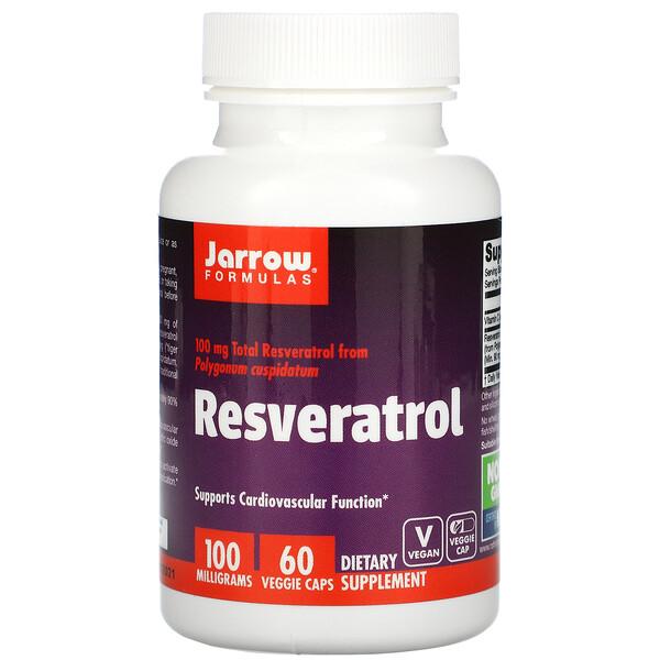 Resveratrol, 100 mg, 60 Veggie Caps