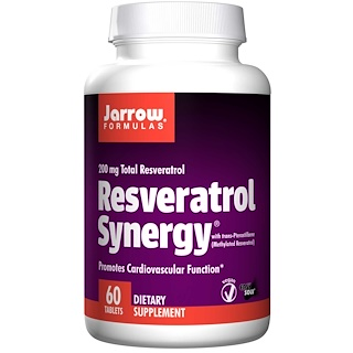 Jarrow Formulas, Resveratrol Synergy, 200 mg Total Resveratrol, 60 Tablets