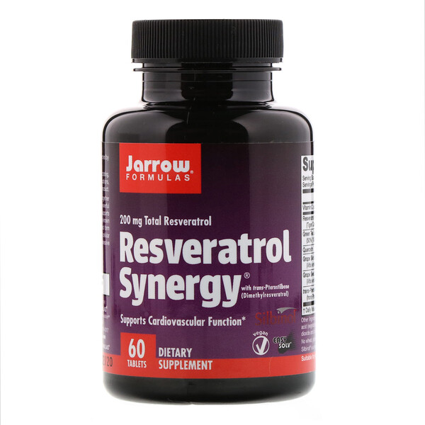 Resveratrol Synergy, 200 mg Total Resveratrol, 60 Tablets
