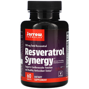 джэрроу формулас, Resveratrol Synergy, 200 mg Total Resveratrol, 60 Tablets отзывы