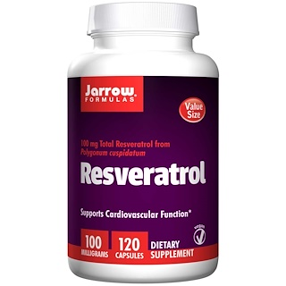 Jarrow Formulas, Resveratrol, 100 mg, 120 Veggie Caps