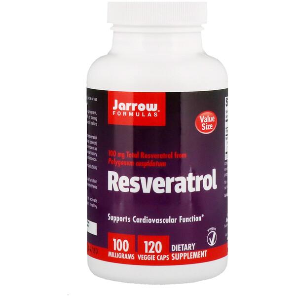 Jarrow Formulas, Ресвератрол, 100 мг, 120 капсул