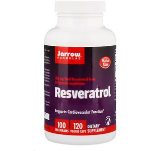 джэрроу формулас, Resveratrol, 100 mg, 120 Veggie Caps отзывы покупателей