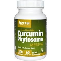 Jarrow Formulas, الكركمين فيتوسوم، 500 ملغ، 60 قرص نباتي