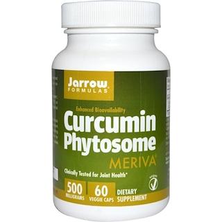 Jarrow Formulas, Фитосомы куркумина, 500 мг, 60 вегетарианских капсул
