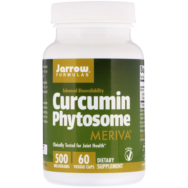 Jarrow Formulas, Curcumin Phytosome with Meriva, 500 mg, 60 Veggie Caps