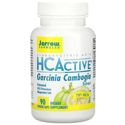 Jarrow Formulas HCActive, экстракт гарцинии камбоджийской, 90 овощных капсул