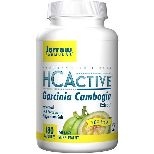 Jarrow Formulas, HCActive, Экстракт гарцинии камбоджийской, 180 вегетарианских капсул (Discontinued Item)