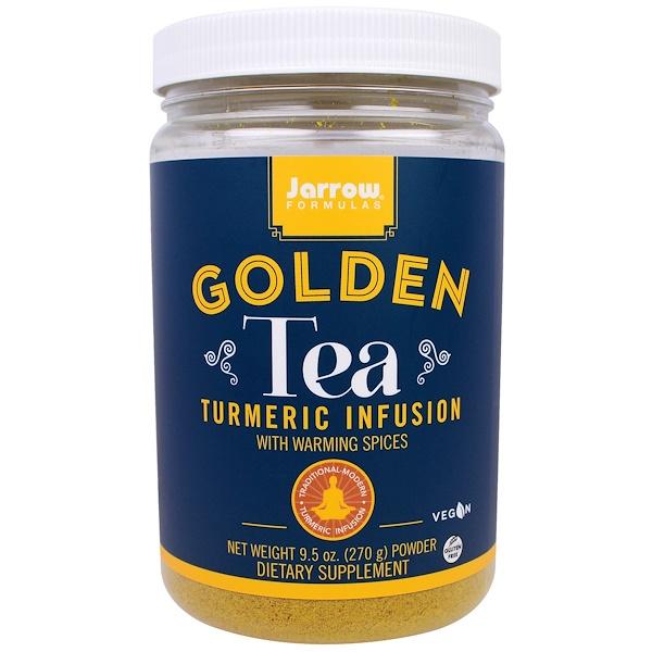 Jarrow Formulas, 黃金茶,薑黃液,9、5盎司(270克)
