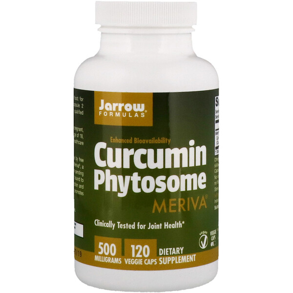 Jarrow Formulas, Curcumin Phytosome with Meriva, 500 mg, 120 Veggie Caps