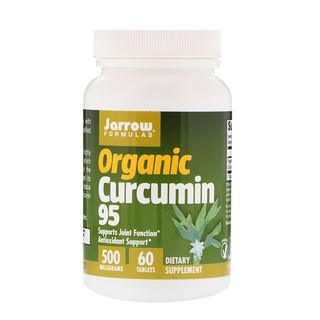 Jarrow Formulas, Organic Curcumin 95, 500 mg, 60 Tablets